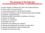 the purpose of the legal but un constitutional article 2 committeeman is