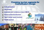 promising tourism segments for central eastern europe