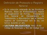 definici n de protocolo o registro notarial