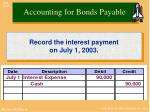 accounting for bonds payable1