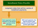 installment notes payable