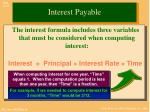 interest payable1