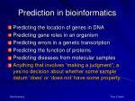 prediction in bioinformatics