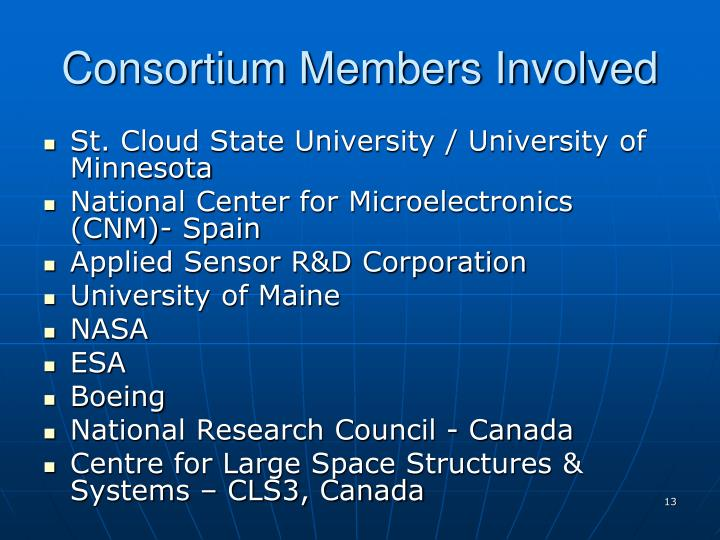 Consortium Members Involved