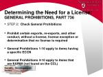 determining the need for a license general prohibitions part 736
