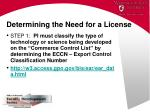 determining the need for a license