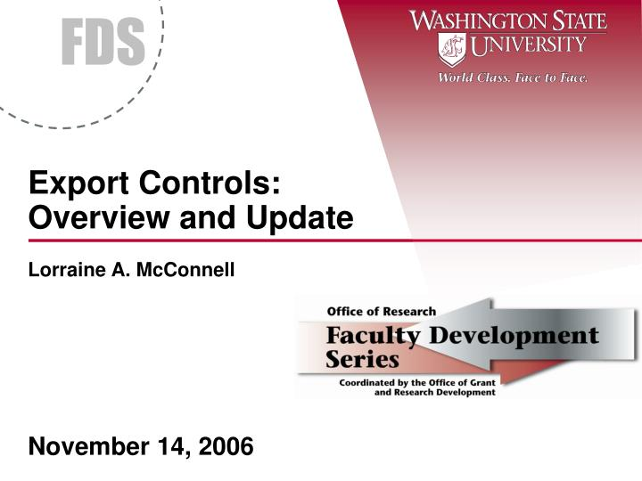 export controls overview and update n.