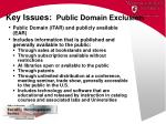 key issues public domain exclusion