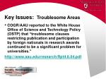key issues troublesome areas