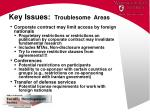key issues troublesome areas1
