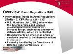 overview basic regulations itar