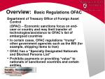 overview basic regulations ofac