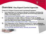 overview key export control agencies