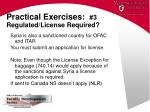 practical exercises 3 regulated license required2