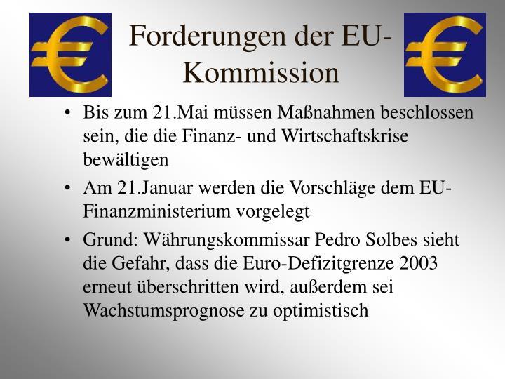 Forderungen der EU-Kommission