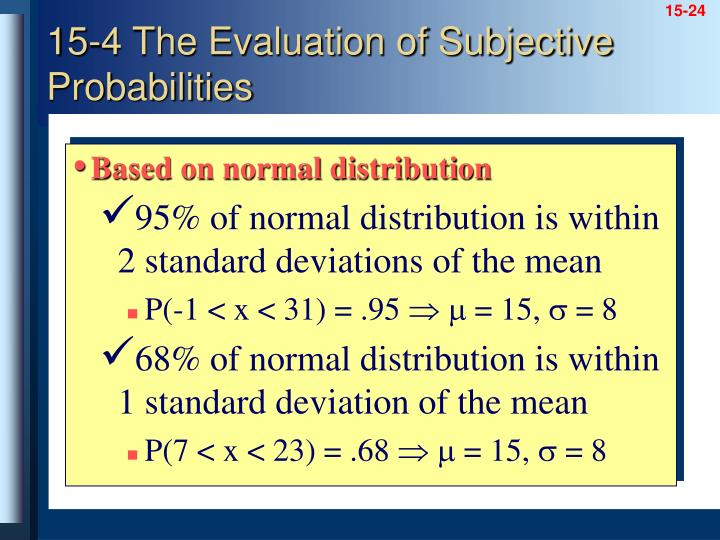 Based on normal distribution