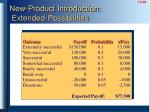 new product introduction extended possibilities