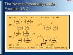 the normal probability model example 15 2