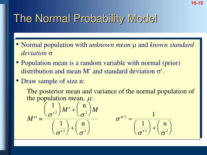 Normal population with