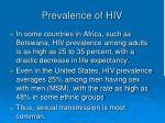 prevalence of hiv
