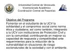 universidad central de venezuela vicerrectorado acad mico coordinaci n central de pasant as1