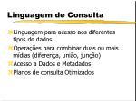 linguagem de consulta