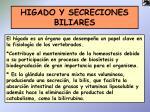 higado y secreciones biliares
