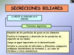 secreciones biliares