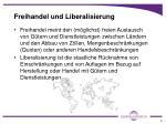 freihandel und liberalisierung
