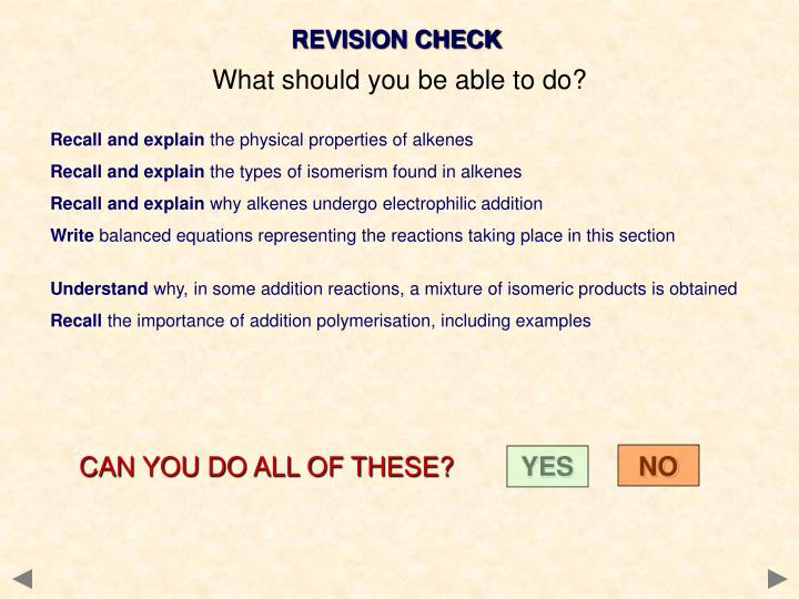 REVISION CHECK