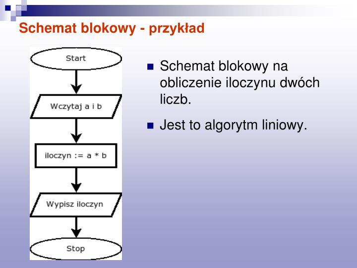 Schemat blokowy - przykład
