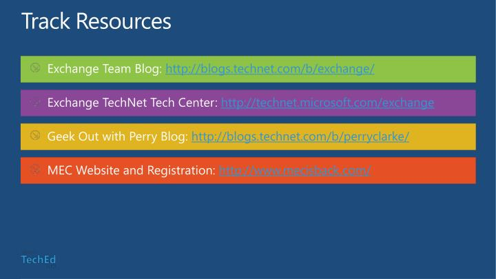 Track Resources