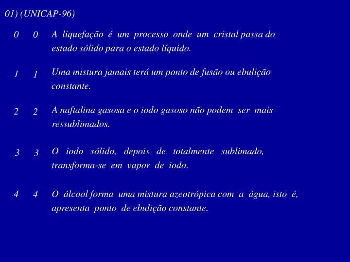 01) (UNICAP-96)