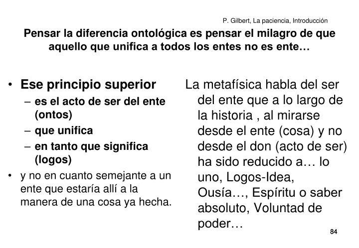 P. Gilbert, La paciencia, Introducción