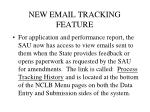 new email tracking feature