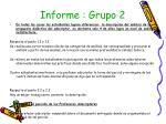 informe grupo 2