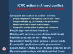 icrc action in armed conflict challenges access acceptation action