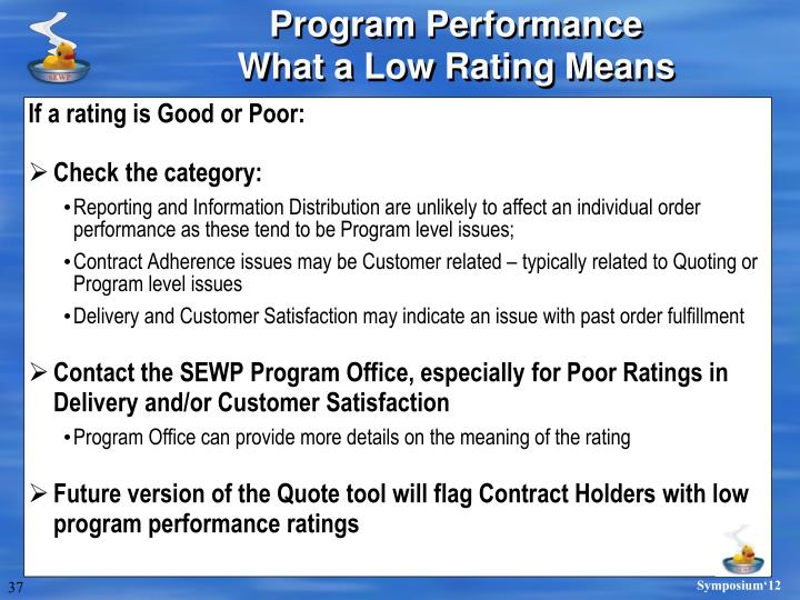If a rating is Good or Poor:
