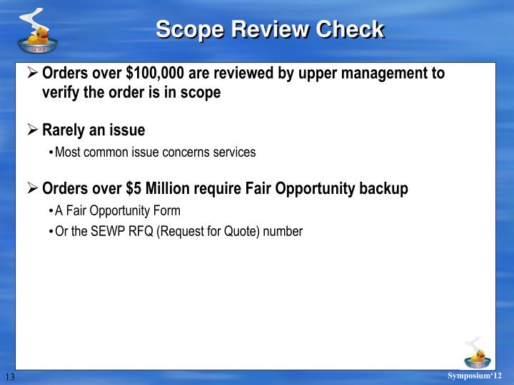 Scope Review Check
