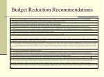 budget reduction recommendations6