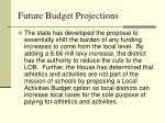 future budget projections1