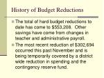 history of budget reductions5