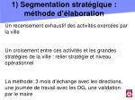 1 segmentation strat gique m thode d laboration