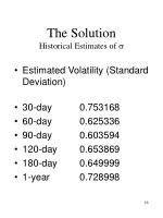 the solution historical estimates of