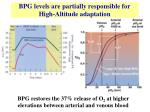 bpg levels are partially responsible for high altitude adaptation
