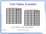 truth tables examples