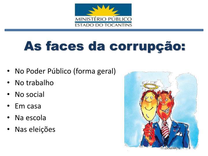 As faces da corrupção: