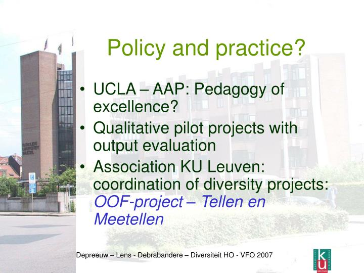 Policy and practice?