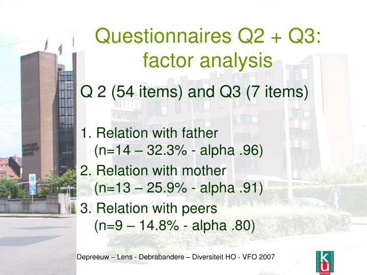 Questionnaires Q2 + Q3: