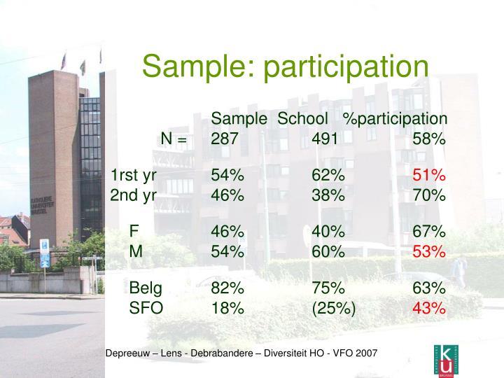 Sample: participation